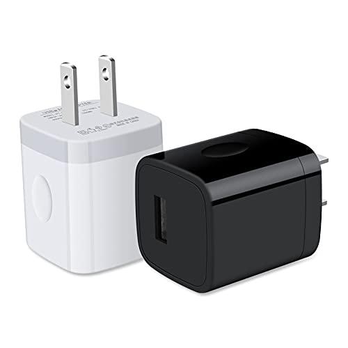 USB電源アダプタ usbコンセント 【2個セット-1USBポート】 Ailkin USB充電器 iPhone充電器 携帯充電器 充電アダプタ Android充電器 アンドロイド充電器 スマホ急速充電 可愛くてコンパクト iPhone 12 12 Pro 12 Pro Max 12 MiNi 11 pro 11 SE、Xperia 1 III 10 III 5 II Ace II 1 II、Mi 11 Lite、Redmi Note 10 Pro、Google Pixel 5 Pixel 4a S21 Ultra S21、AQUOS sense4 sense sense4 lite、AQUOS Reno5 A R6、OPPO Reno A 3 A A54 5G A73など機器対応 ホワイト、ブラック