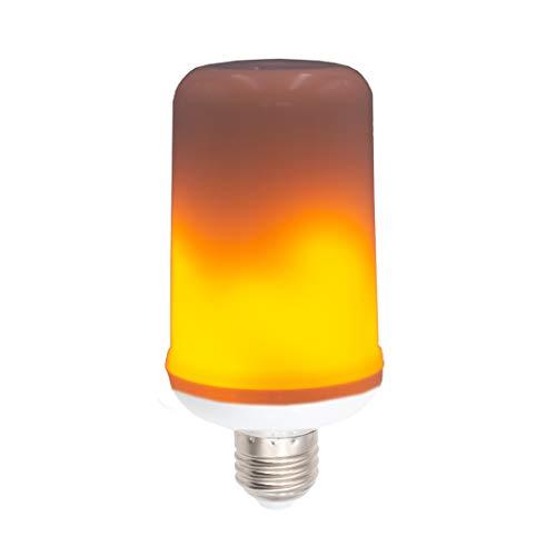 Pamura - Flammen Lampe – LED Lampe - E27 Sockel - realistische Flammen Simmulation - ohne Brandgefahr - Stimmungslicht - mit Schwerkraftsensor - Flamme Gelb