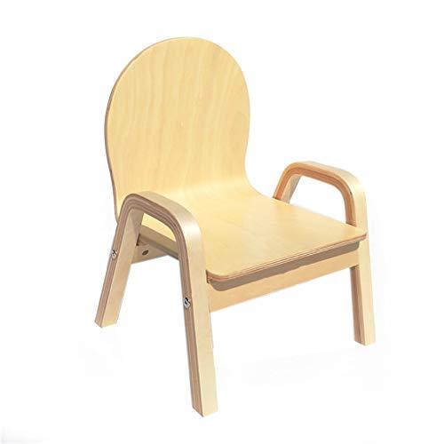 WPJDZ massief houten kinderstoel kindertafel en stoel kruk lage stoel met armleuningen Arc draagbare stoel meerdere kleuren 26 x 17 x 41 cm