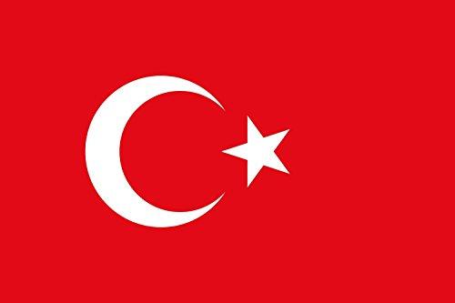 DIPLOMAT Flagge Türkei | Querformat Fahne | 0.06m² | 20x30cm für Flags Autofahnen