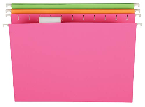 Pendaflex Glow Hanging File Folders, Letter Size, Assorted, Case Pack of 12 (81670)