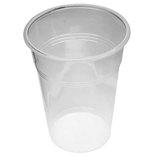 800 Stück Trinkbecher Becher 0,4 l Transparent 400 ml mit Schaumrand Ausschankbecher Bierbecher Einwegbecher Partybecher