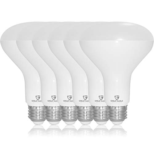 Great Eagle BR30 LED Light Bulb, 100W Equivalent, UL Listed, CEC Title 20, 90+ CRI, 5000K (Daylight), Dimmable (Pack of 6)