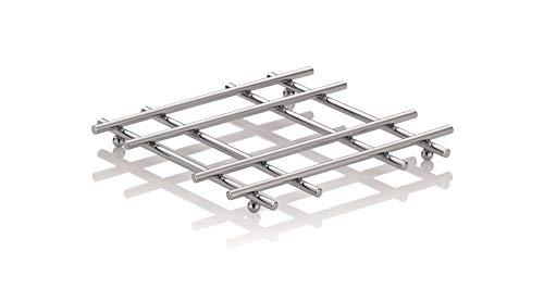 kela Caro Topf-Untersetzer quadratisch I Metall verchromt I 21 cm x 21 cm I Für Töpfe, Pfannen & Auflaufformen