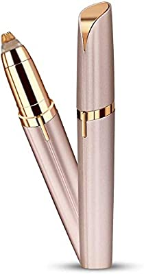 Eyebrow Hair Remover for Women,Electric Painless Trimmer and Portable Eyebrow Hair Removal with Light(Battery Included)