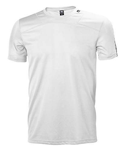 Helly Hansen HH LIFA T-Shirt Technique Sun Protection Manches Courtes Homme White FR: S (Taille Fabricant: S)