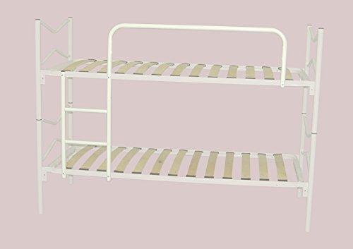 Set scaletta e protezione per letto a castello, colore bianco