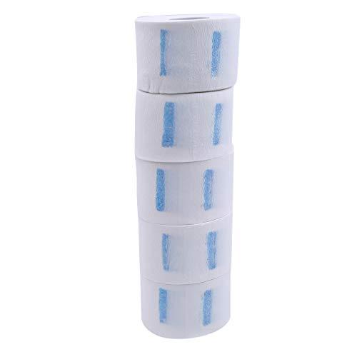 Pinhan - 5 rollos desechables de tiras de papel de protección para el cuello, cuello elástico, toalla de papel para peluqueros, barberos, uso doméstico