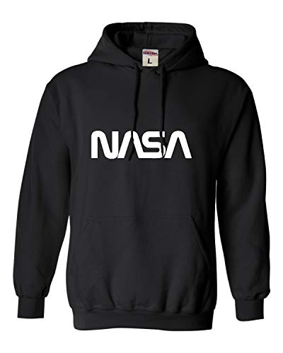 Go All Out Large Black Adult NASA Worm Logo Sweatshirt Hoodie
