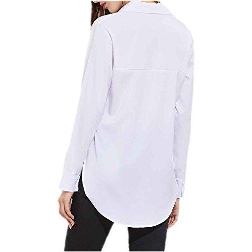 Chilie Blusa blanca dividida lateral de la calle alta de las ...