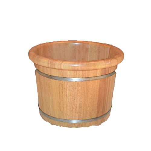 MJ-Brand Bain de Pieds Barrel - Chêne à Larges Bords Bain de Pieds Barils de Soins à Domicile Bain de Pieds Barrel Spa Baignoire apaisantes Nerfs à soulager la Fatigue Améliorer Le Sommeil 40x30cm