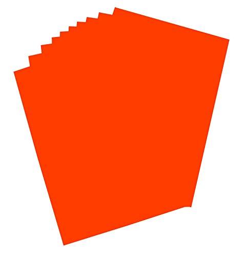 folia 65203 - Plakatkarton, ca. 48 x 68 cm, 10 Bögen, 380 g/qm, einseitig orange gefärbt - ideal zum Basteln oder Erstellen von Plakaten und Anzeigen