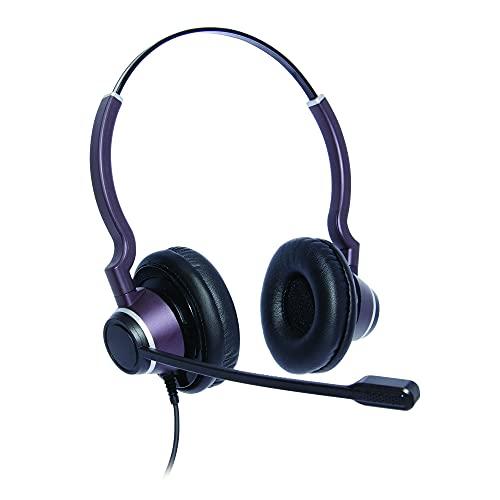 Auricular para Centro de Contacto con Ultra cancelación de Ruido, biauricular Panasonic KX-NT630