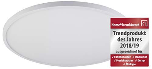 LED-paneel, wand- en plafondlamp, via aan/uit-schakelaar verandert van kleur, 2200 K/3000 K/4000 K, incl. geheugenfunctie en indirecte verlichting, wand/plafond- en hangmontage mogelijk.