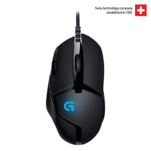 Logitech G 402 Hyperion Fury Wired Gaming Mouse, 4,000 DPI, Lightweight, 8 Programmable Buttons, Compatible with PC/Mac - Black
