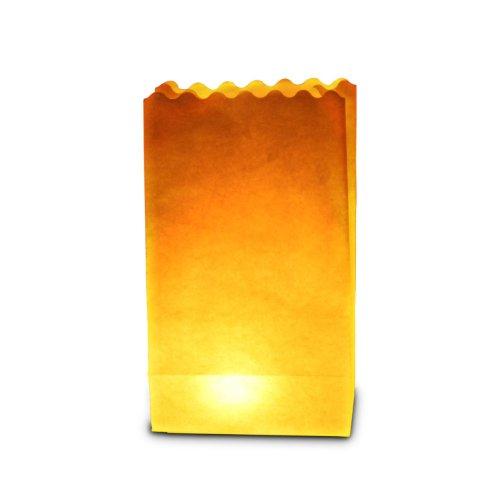 Sky Lanterns 50 x Sac de Bougie lumière de thé en Papier Ignifuge décoration - Plaine …