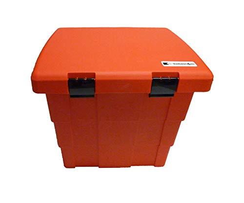 Streugutbehälter 108 ltr. ROT, Streugutbox, Streusalzbox, Sandbox, Lagerbehälter, Pick-up Box, Anhängerbox