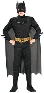 Rubie's Batman: The Dark Knight Trilogy Child's Deluxe Muscle Chest Batman Costume Medium 881290_M