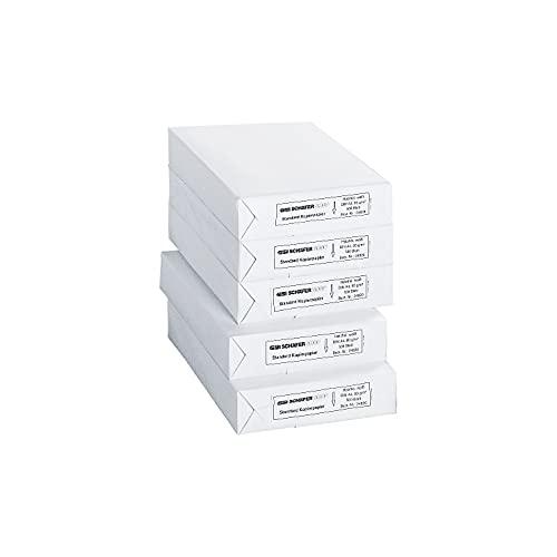 SCHÄFER SHOP Kopierpapier A4 - 80g/m² Papier - Druckerpapier Laserpapier Inkjetpapier Faxpapier - 2500 Blatt, weiß