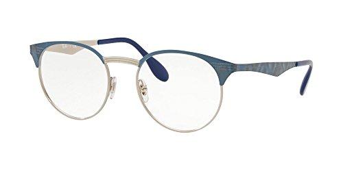Ray-Ban 0RX6406 Monturas de gafas, Silver On Top Blue Move, 49 Unisex