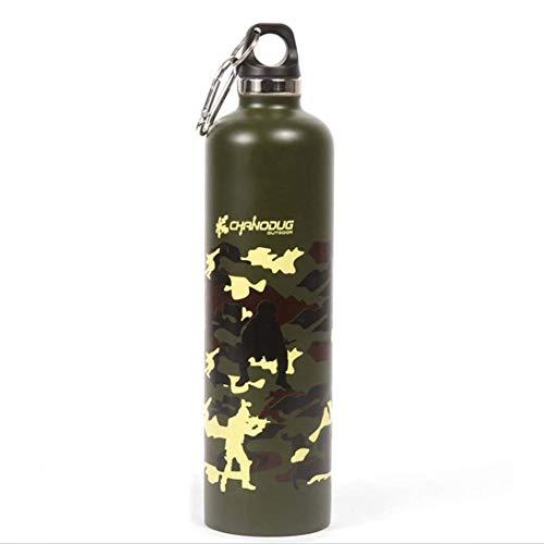 OWEM Waterfles - Outdoor Dubbele RVS Isolatie Sport Waterwaterkoker, 25 Oz, Camouflage, Karabijnhaak, Buitensporten, Fietsen, Reizen, Camping, Alpinisme, enz.