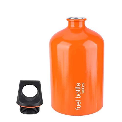 VGEBY Bränsleflaska, 1 000 ml aluminiumlegering gasspis bränsle förvaring behållare olja bensin burk bränsletank för utomhus camping vandring