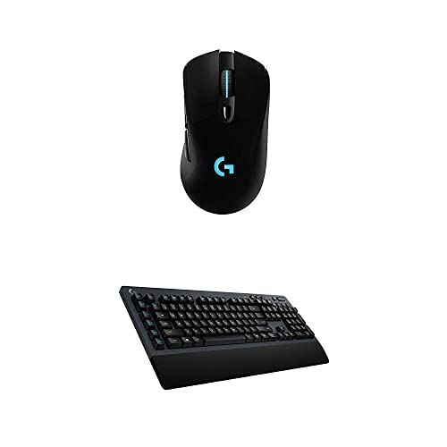 Logitech G703 Lightspeed Wireless Gaming Mouse – Black & G613 Lightspeed Wireless Mechanical Gaming Keyboard, Multihost 2.4 GHz + Blutooth Connectivity – Black