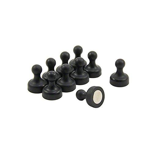 Magnet Expert® Haute puissance noire Quille Aimant - Bureau et réfrigérateur (19mm de diamètre x 25 mm de haut) (paquet de 10)