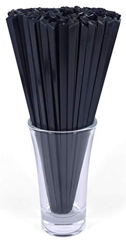 "Gmark 6"" Prism Picks 300 ct, Triangular Plastic Cocktail Prism Picks (Black) (Box of 300pcs) GM1003E"