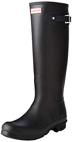 Damen Hunter Wellington Stiefels Original Tall Regen Schnee Wellies Neu - Schwarz - 43