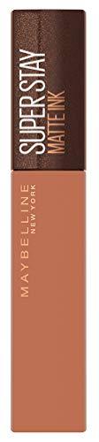Maybelline New York Lippenstift, Super Stay Matte Ink Coffee, Flüssig, matt und langanhaltend, Nr. 255 Chai Genius, 5ml