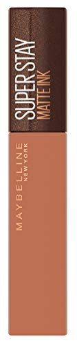 Maybelline New York Lippenstift, Super Stay Matte Ink Coffee, Flüssig, matt und langanhaltend, Nr. 255 Chai Genius, 5ml