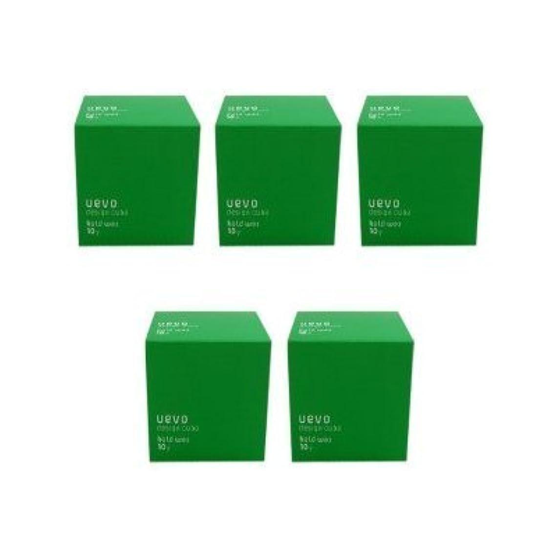 ピーブ成人期日光【X5個セット】 デミ ウェーボ デザインキューブ ホールドワックス 80g hold wax DEMI uevo design cube