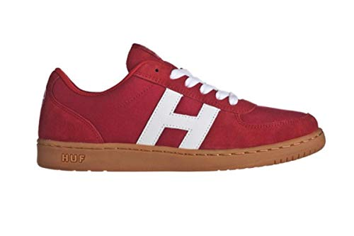 HUF Skateboard Schuhe 1984- Red/Gum Sneaker Sneakers Shoes, Schuhgrösse:40.5