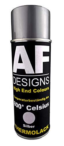 Alex Flittner Designs Thermolack Spray Spraydose Ofenlack Auspufflack Hitzebest. 800 °C Silber 400ml