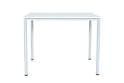 Dila GmbH Stehtisch Besprechungstisch Mehrzwecktisch Universaltisch Tisch Bistrotisch Stehpult Pausentisch | Höhe: 112,5 cm | 6 Größen | 6 Farben | Metallgestell (Lichtgrau, 80 x 80 cm)