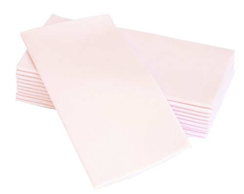 "Simulinen Colored Napkins - Decorative Cloth Like & Disposable, Dinner Napkins - Light Pink, Soft, Absorbent & Durable - 16""x16"" - Great for Any Occasion! - Box of 50"