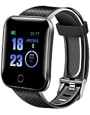 TEFMA Smartwatch Orologio Fitness Sportivo Donna Uomo Impermeabile Smart Watch Cardiofrequenzimetro Contapassi da Polso Monitor Pressione Sanguigna Activity Tracker Compatibile con Android iOS.