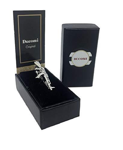 Ducomi Laplace–Corbata Hombre con Acabado Plata–Accesorio de Estilo y Must de Elegante–Modelos...