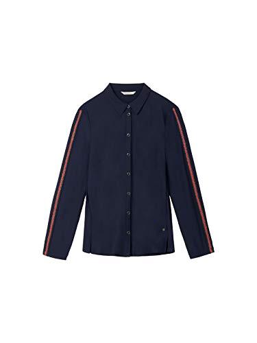 Sandwich blouse van Travel Jersey met glittereffectgaren-paspel