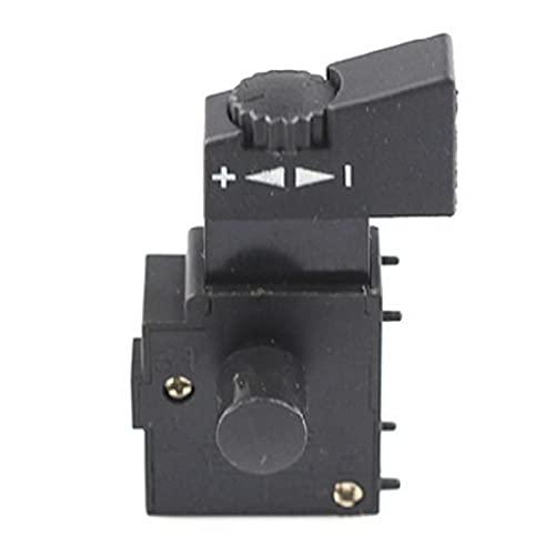 LIZONGFQ Zhang Asia Interruptor de Velocidad de perforación de la Mano 25 0V 6A Cerradura en el Interruptor de activación de Control de Velocidad de pulsador (Color : Other)