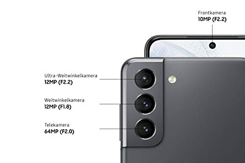 Samsung Galaxy S21 5G, Android Smartphone ohne Vertrag, Triple-Kamera, Infinity-O Display, 128 GB Speicher, leistungsstarker Akku, Phantom Gray - 3