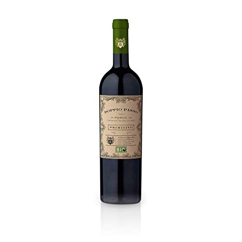 Doppio Passo Bio Primitivo Puglia IGT 2019 - CVCB   halbtrockener Rotwein   italienischer Bio Wein aus Apulien   1 x 0,75 Liter