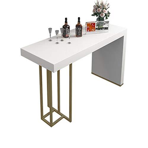 Table De Bar Marble Rock Bar Bar Table Maison Table à Manger Table de Table Salon Open Cuisine Island Console Convient pour La Zone du Bar (Couleur : Gold, Size : 120x40x102.5cm)