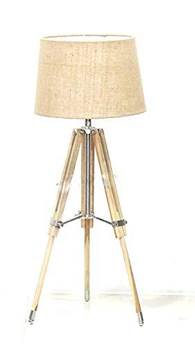 NauticalMart Nautical Lamps Home Decor Wooden Tripod Table Lamp Light Decor
