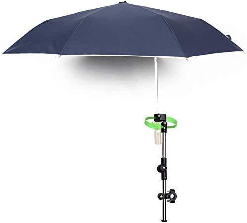 KIKILIVE - Paraguas Versa Brella para todas las posiciones con abrazadera universal, paraguas de bicicleta con pinza para paraguas