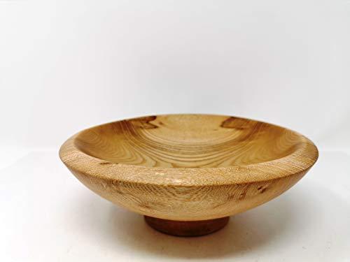 Holzschale rund aus Eschen Holz - ∅ ca. 21 cm - H: ca. 7,5 cm handgemacht gedrechselt Schale Obstschale