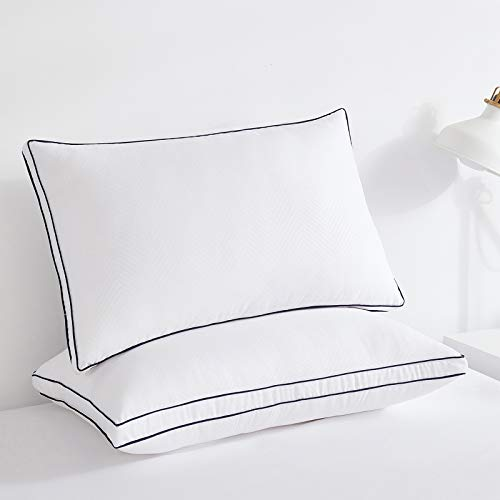 Wamsound Pillows for Sleeping,Pillow 2 Pack,Bed Pillows Suitable for Side Sleepers and Back Sleepers,Filled with Delicate and Soft Filling,Luxury Hotel Soft Gel Pillow(White)