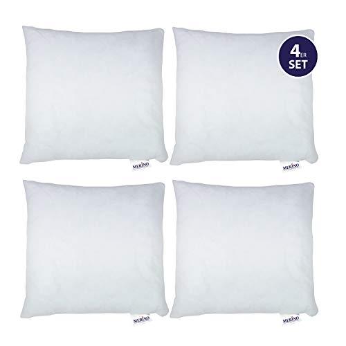 Merino-Betten 4er Set Kissen 40x40 | Dekokissen | Couchkissen | Kissen mit Reißverschluss (weitere verfügbar)
