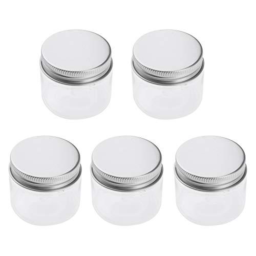 Homyl Pot Vide en Plastique Récipient Cosmétique avec Couvercle pour Échantillon de Crèmes Stockage de Maquillage - 60ml